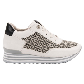 Aclys brown Sneakers With Pattern