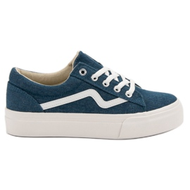 Kylie Fashionable Jeans Sneakers blue