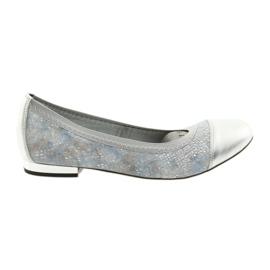 Ballerinki women's eraser Gamis 1402 silver