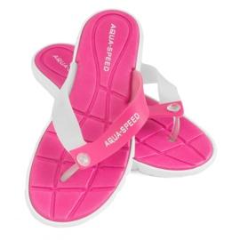 Slippers Aqua-Speed Bali pink and white 05 479