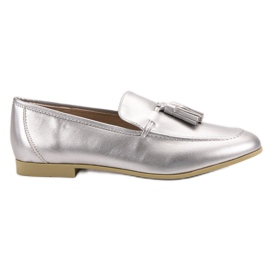 Silver loafers with tassels VICES grey