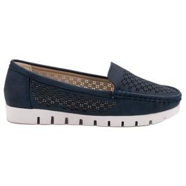 Vinceza Dark blue moccasins