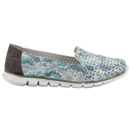 Filippo Fashionable Leather Lords grey