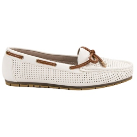Kylie Comfortable moccasins white