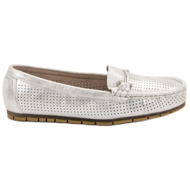Kylie grey Silver loafers