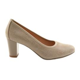 Women's shoes elastic sole Arka 5137 beige brown