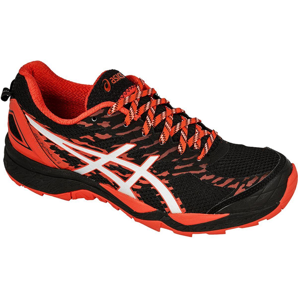 Running shoes Asics Gel-FujiTrabuco 5 M T6J0N-9023 black orange