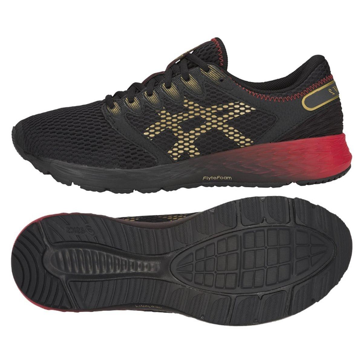 Running shoes Asics RoadHawk Ff M 1011A590-001 black red yellow