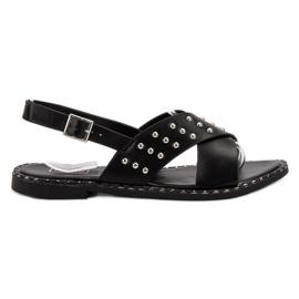 Filippo Fashionable Rock Sandals black