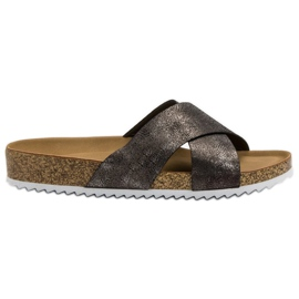 Kylie Comfortable Gray Slippers grey
