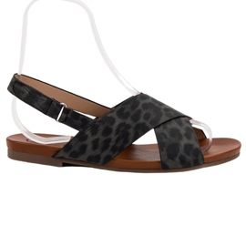 Kylie black Spotted Sandals