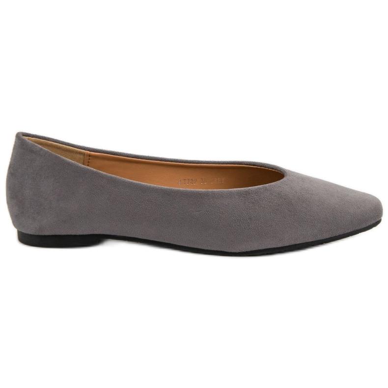 Seastar Gray Suede Ballerinas grey