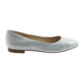 Ballerinas pumps Caprice 22104 silver blue