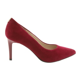 Red women's shoes SALA 7064