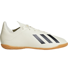 Indoor shoes adidas X Tango 18.4 In Jr DB2432 white multicolored
