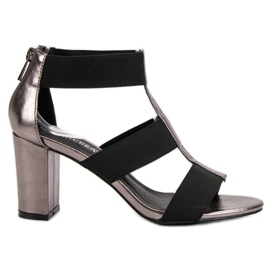 Fashionable Sandals on the UP Post of VINCEZA grey