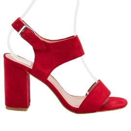 Red VINCEZA Sandals