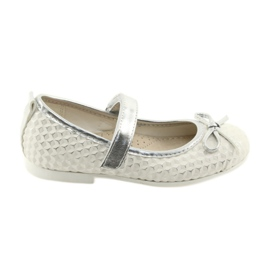 Ballerina shoes with Velcro American Club GC16 white grey