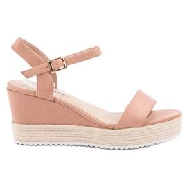 Seastar Comfortable Wedge Sandals pink