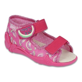 Pink Befado yellow children's shoes 342P004
