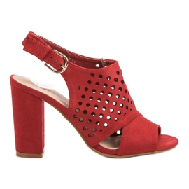 Seastar Openwork, built-up Sandals red