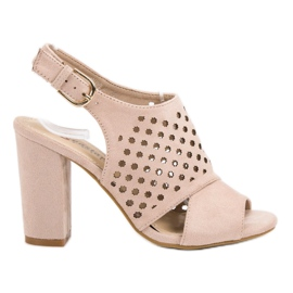 Seastar pink Openwork, built-up Sandals