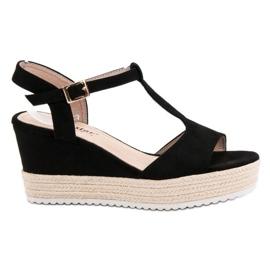 Seastar Espadrilles Black Sandals