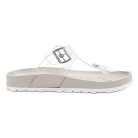 Seastar Transparent Flip Flops grey