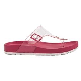 Seastar pink Transparent Flip Flops