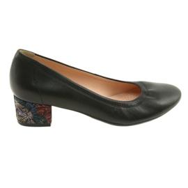 Pumps women's leather shoes Arka 5627 black