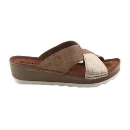 KOMFORT INBLU GX006 brown / gold slippers