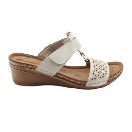 Inblu brown Velcro beige velcro closure NA03 sequins