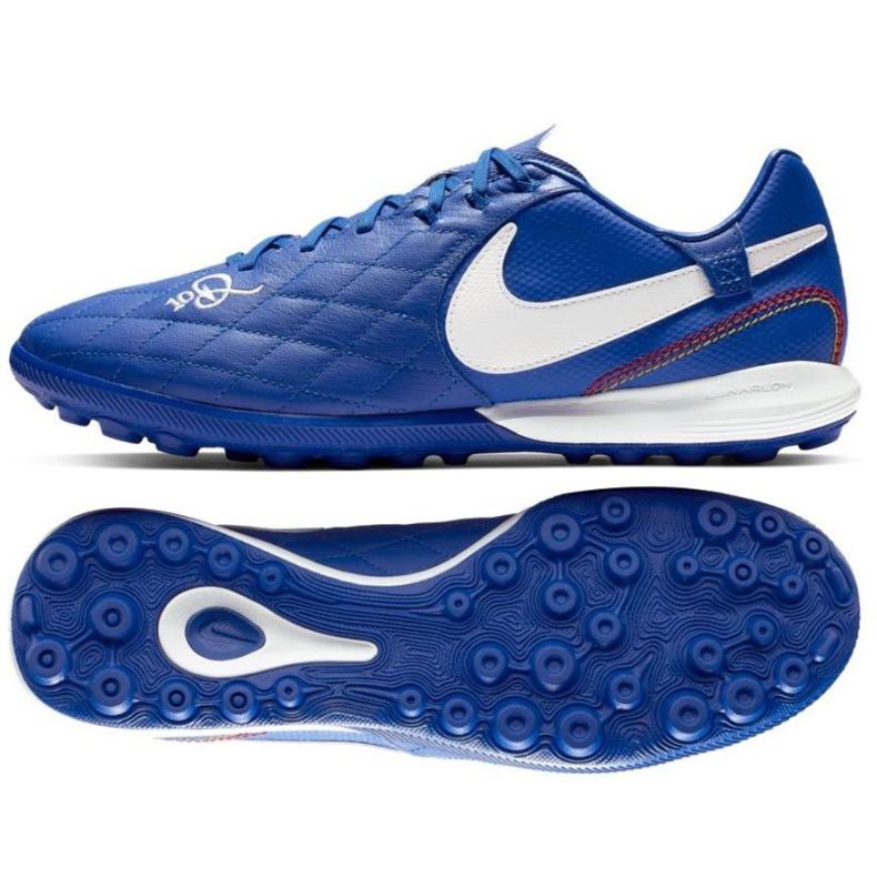 Football shoes Nike Tiempo Lunar LegendX 7 Pro 10R Tf M AQ2212-410 blue blue