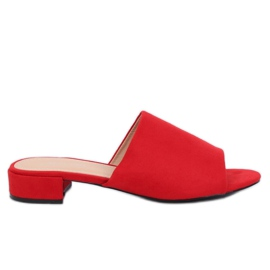 Women's red slippers XW9093 Red