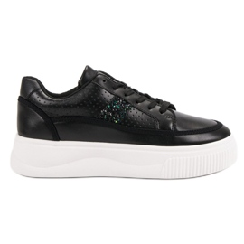 Black Creepers With Brocade
