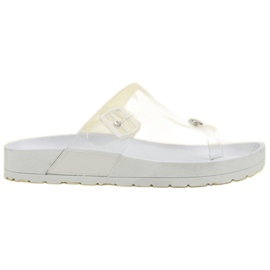 Seastar Transparent Flip Flops white