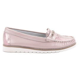 Filippo Comfortable Leather Loafers pink