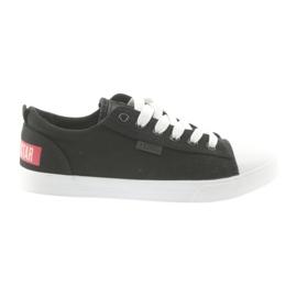 Sneakers tied black Big star 274877