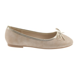 Ballerinas girls' American Club LU17 beige