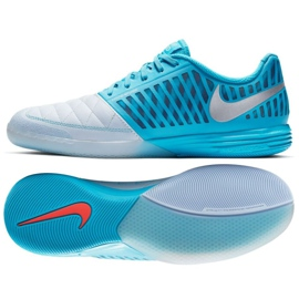 Indoor shoes Nike Lunargato Ii Ic M 580456-404 blue multicolored