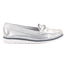 Filippo grey Comfortable Leather Loafers