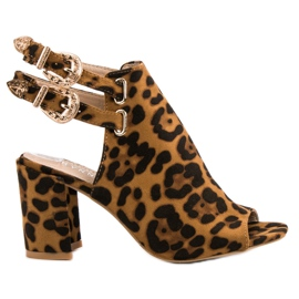 Erynn brown Elegant Built Sandals