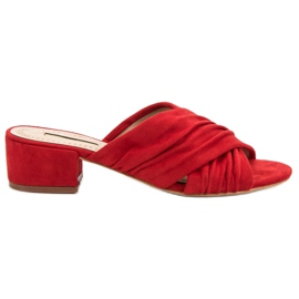 Corina red Fashionable Slippers