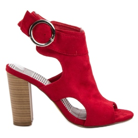 Erynn Red Sandals On A Bar