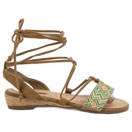 Corina brown Tied Sandals
