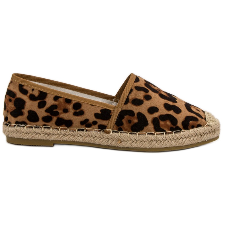Spotted Espadrilles brown
