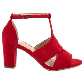 Vinceza Red Sandals