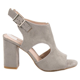 Vinceza grey Built-up Sandceza Sandals