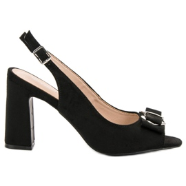 Vinceza Sandals On A Bar black