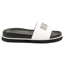 Vinceza White Slippers
